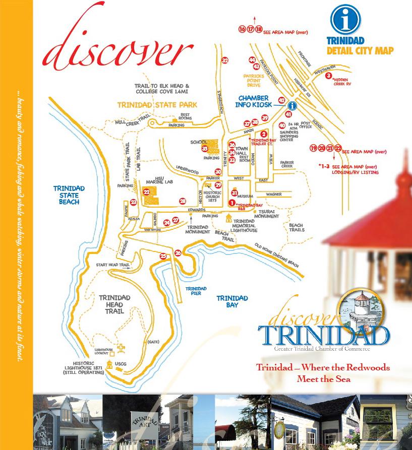 Maps Trinidad, California - Trinidad Tourism Lodging